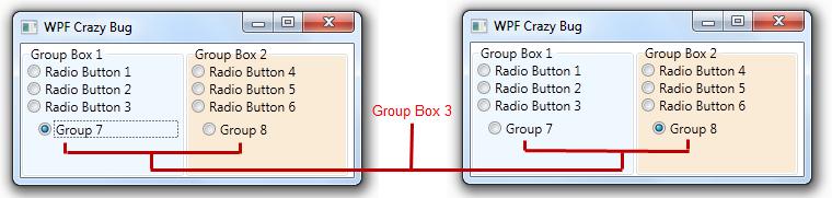how to change background header groupbox wpf